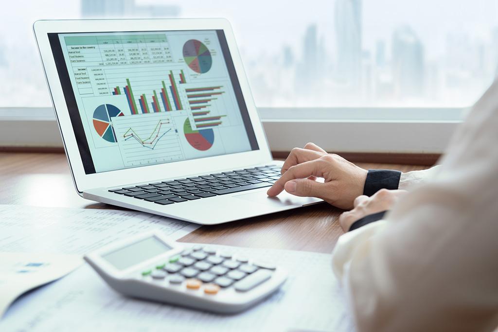 financial spreadsheet report