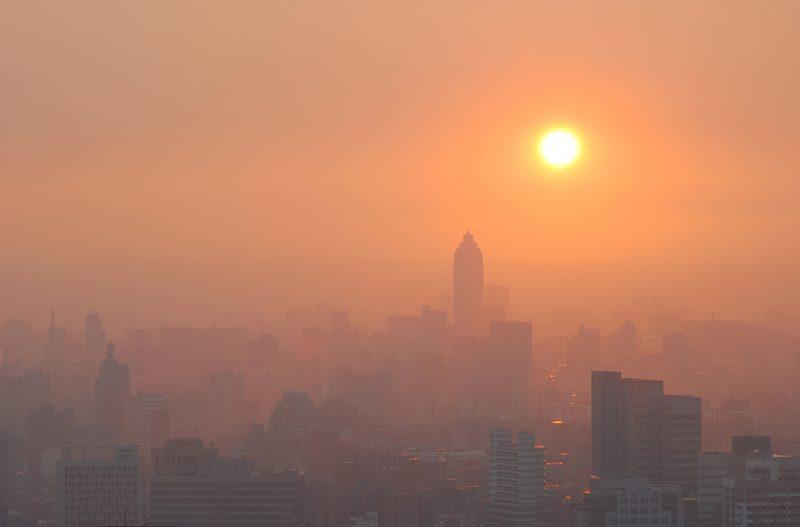 City Sunset in Smog