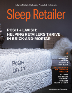 Image of the cover of the Spring 2021 issue of Sleep Retailer